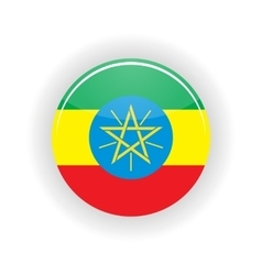 Ethiopia icon circle vector