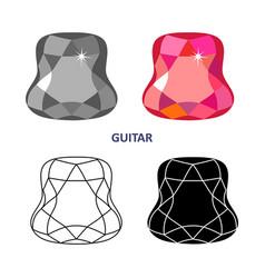 fancy gem cut vector image