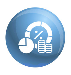 finance money graph icon simple style vector image