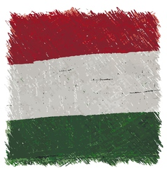 Flag of Hungary handmade square shape vector image