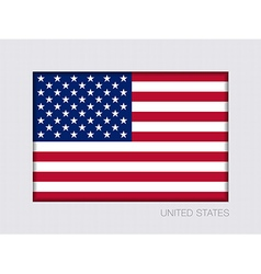 Flag of united states of america ratio 2 to 3 vector