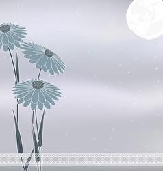 flow gray moon vector image