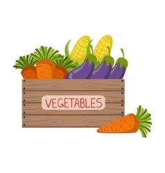 Fresh Vegetables Crate vector