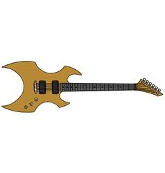 Golden electric guitar vector