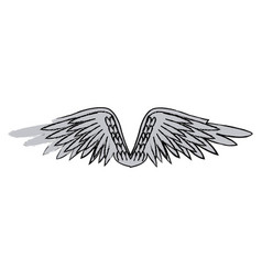 graffiti wings feathers decoration design image vector image