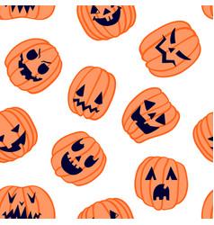 Halloween scary pumpkin pattern 6 vector