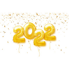 Happy new year 2022 background 2022 number vector