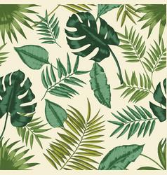 Hawaiian seamless pattern with exotic foliage vector