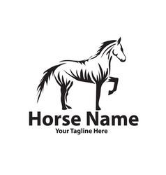 horse power logo designs vector image