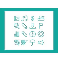 icons web vector image