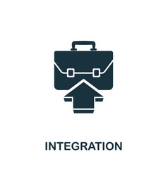 integration icon symbol creative sign from agile vector image