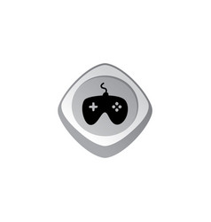 Joystick glossy color app icon button game asset vector