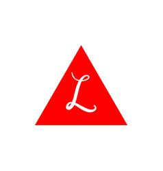 L logo template design vector