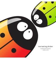 Many beetles with text vector image