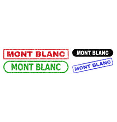 Mont blanc rectangle watermarks with unclean vector