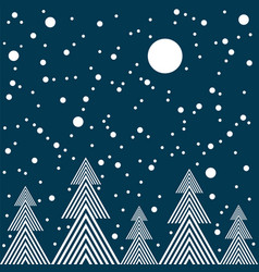 Night in forest seamless pattern vector