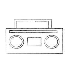 Old radio music icon vector