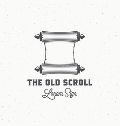 old scroll abstract sign symbol or logo vector image