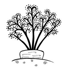 organic food zen doodle carrot vegetable hand vector image