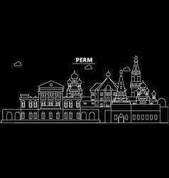 Perm silhouette skyline russia - perm city vector