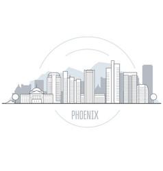 Phoenix city skyline - towers and landmarks of vector