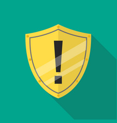 protective shield alert vector image