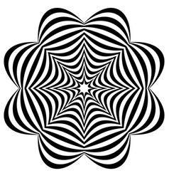 Radial elements with distortion deformation vector