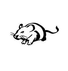 Rat stylized line drawing vector