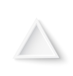 Realistic triangle banner isolated on white vector image