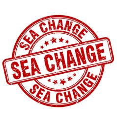 Sea change red grunge stamp vector