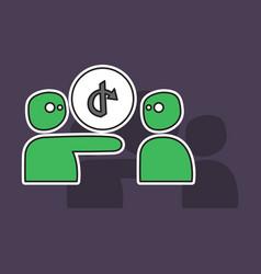 Share icon in sticker design vector