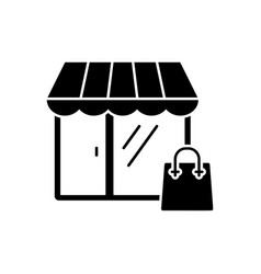 shopping icon in flat style symbol vector image