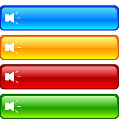 Sound buttons vector image