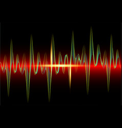 sound wave rhythm background spectrum color vector image