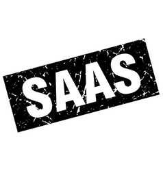 Square grunge black saas stamp vector