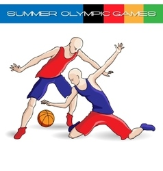 Summer Olympic games volleyball vector image
