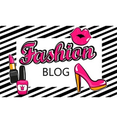 Template for fashion blog vector