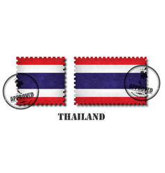 thailand or thai flag pattern postage stamp with vector image