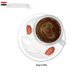 Traditional Iraqi Coffee Popular Dink in Iraq vector image