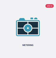 Two color metering icon from photography concept vector