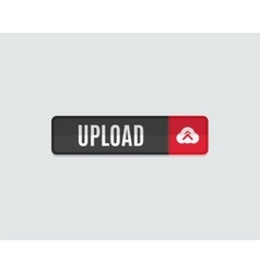 Upload web button flat design vector image vector image