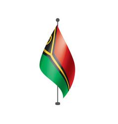 vanuatu flag on a white vector image