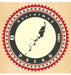 Vintage label-sticker cards of Palau vector image
