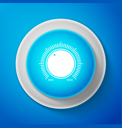 white dial knob level technology settings icon vector image