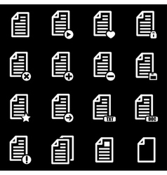 White documents icon set vector