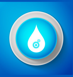 white drop with gears icon isolated vector image