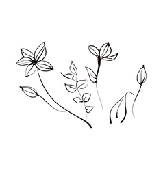 A view of flower vector image