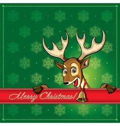 Cristmas deer card 1 vector image vector image