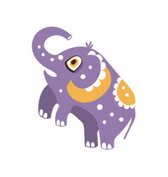 cute cartoon elephant character standing on hind vector image vector image