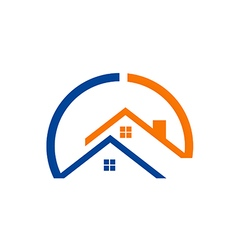 house realty construction logo vector image vector image